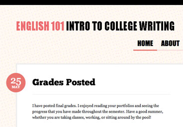 English 101 course site preview
